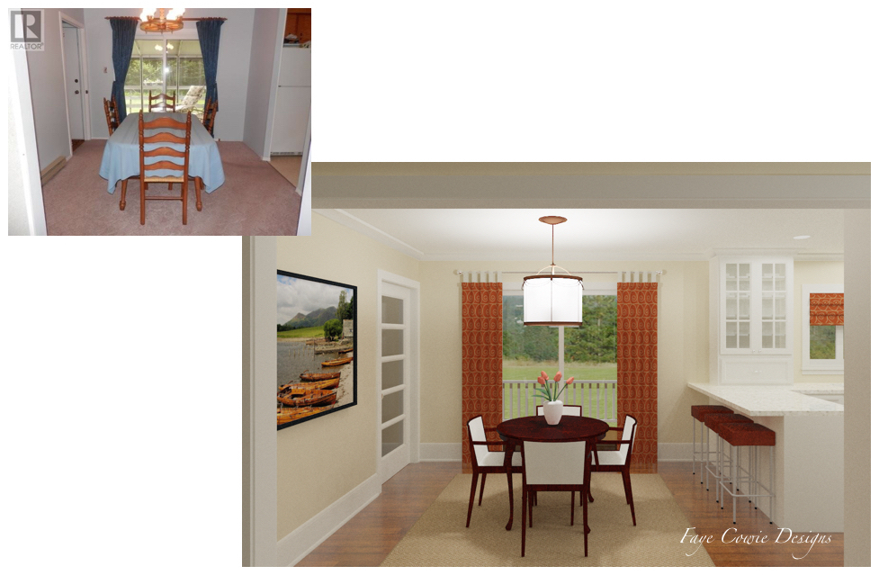 2015001 Before-After Dining Room